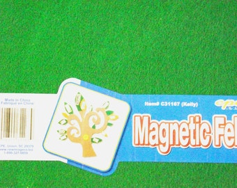 "Magnetic Felt Sheet~1 Sheet~9"" by 12""~Kelly Green~Make Your Own Magnets~DIY Crafts~Gifts~Locker Accessories~Heavyweight Magnet~Lavender Felt"