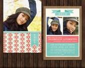 INSTANT Download5x7 Senior Graduation Announcement Card Template - G8