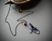 Vulture Necklace   Bird   Turkey Vulture   Wearable Art   Gift Under 25