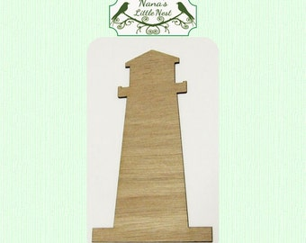 Lighthouse (Small) Wood Cut Out -  Laser Cut