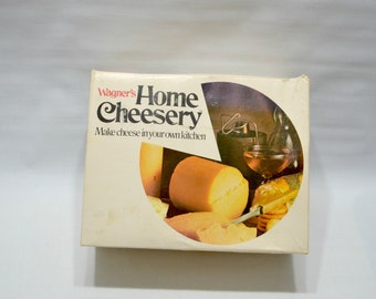 vintage Wagner's Home Cheesery Kit - Home Cheese Making - Brick or Colby - Complete - Never Used - 1972 - Wisconsin - Rare