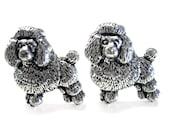 Fluffy Poodle Dog Cufflinks