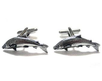 Salmon Fish Pendant Cufflinks