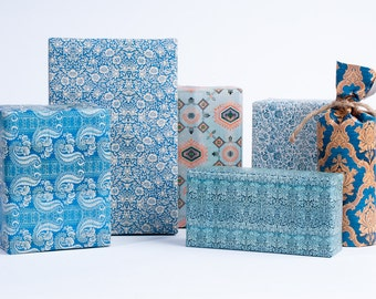 1800's English Wrapping Paper / Blue