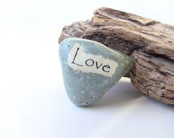 LOVE Rock - LOVE Stone - Heart Stone - Unique Valentines Gift - Heart shaped Beach Stone - Valentine wife gift - Girlfriend gift