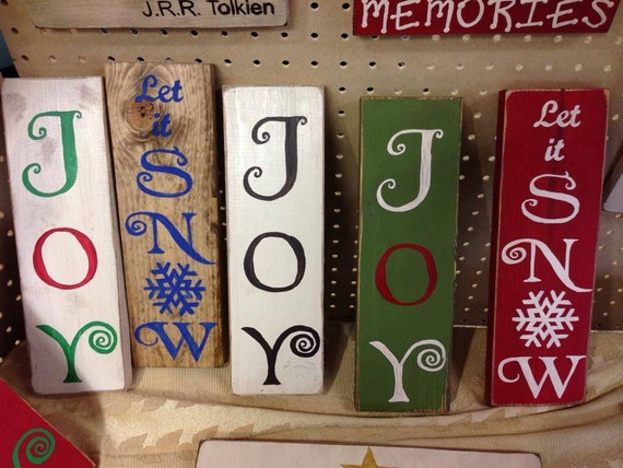 Items similar to Christmas Hand painted wood