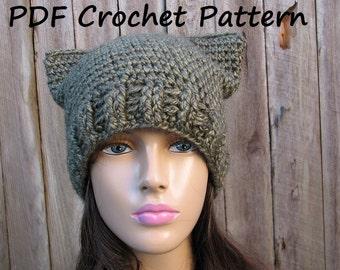 Crochet Hat - Slouchy Hat, Crochet Pattern PDF,Easy, Pattern No. 63
