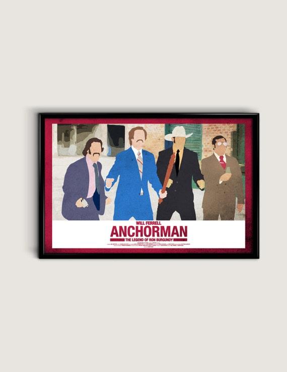Anchorman 17 x 11 Minimalist Movie Poster