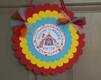Circus Door Sign - Circus Welcome Sign - Carnival - Big Top