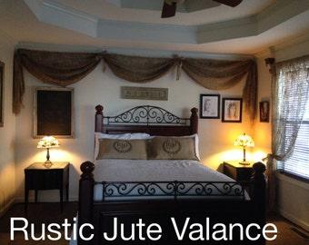 Rustic Jute  Valance