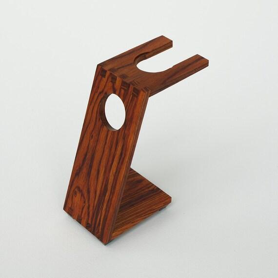Wood Shaving Stand for DE / Safety Razors: Burmese Rosewood
