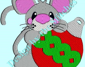 Christmas Mouse Christmas Ornament Christmas INSTANT DOWNLOAD Embroidery Design Pattern