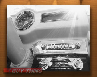 Black and White, Old Car Picture, Dashboards, Car Photography, Automobile Art, Boyfriend Gift, LaSalle Car, La Salle, Guy Thing, Car Art