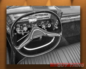 Chrysler Car, Imperial Picture, Car Photography, Vintage Chryslers, Black and White, Car Print, Automotive Art, Guy Thing, Murray Bolesta