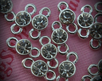Clear Genuine Sterling Silver Plated Swarovski Crystal Connectors Link T700