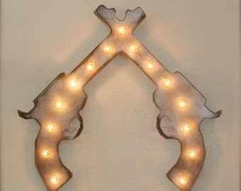 "24"" LARGE Vintage Style Twin X Marquee in Wood...........     Boys Room, Cowboy, Cowgirl, Gameroom"