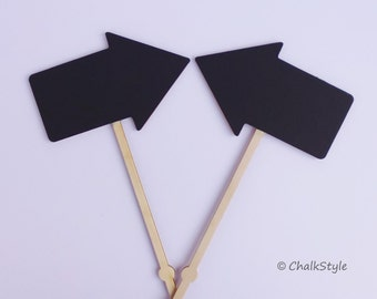 2 Chalkboard Photo Props on Stick Wedding Decor Just Married Mr and Mrs Chalkboards Wedding Signs Prop Chalk Boards Blackboard Signs Props