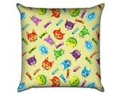 """Cat And Dog Party - Original Pattern Sofa Throw Pillow Envelope Cover for 18"""" inserts"""