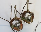 Pussywillow Butterfly Wreath Ornament