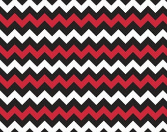 ClearanceCotton Chevron Small in Red/Black by Riley Blake- 1 yard