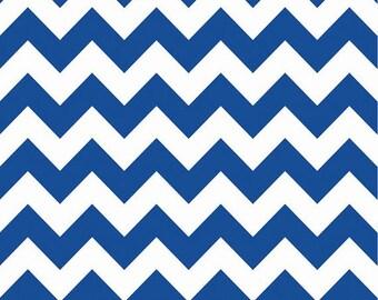 In Stock now - Medium Chevron Cotton - Royal Blue  by Riley Blake-1 yard