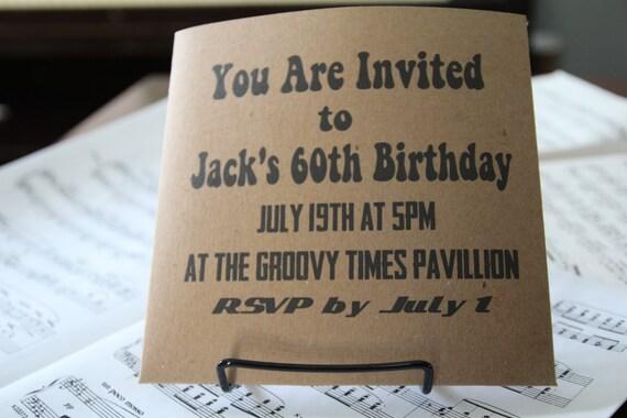 Record Wedding Invitations: Custom 45 Record Invitations For Retro By RockPaperHandmade