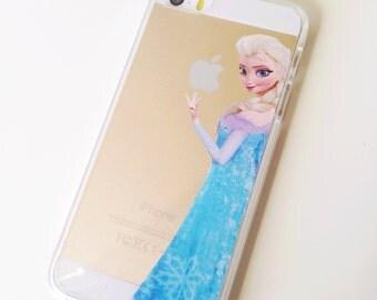 Elsa frozen 6 5 5s 5c 4 4s  clear case