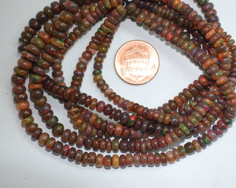 Brown Opal Rondelle Smooth