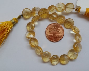 Citrine Coins Faceted