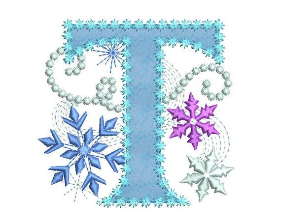 Ice princess applique letter t frozen cloth decor applique for Letter t decoration