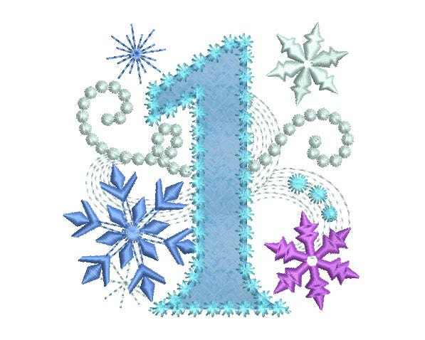 Ice princess number 1 frozen happy birthday cloth decor for Number 4 decorations