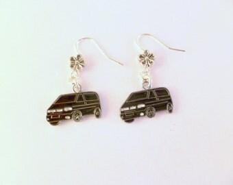 VW T4 Camper Van Earrings