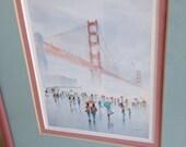 Print Golden Gate  BRIDGE of San Francisco by Yato framed