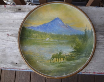 Antique 1912  Elk's Lodge Reunion, Mt. Hood, Portland Oregon, Souvenir Sign GIFT