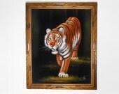 Velvet Painting/ Velvet Art/ Black Light Painting/ Black Light Poster/ Psychedelic Painting/ Jungle Painting/ Psychedelic Art/ 70s Paintings