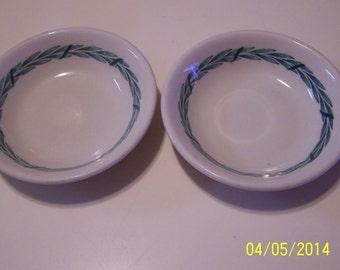 "Mayer Side Bowls "" Laurel""  Pattern ( set of two )"