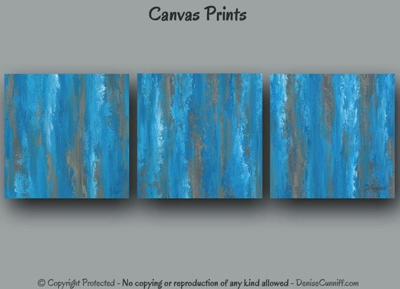 Wall Art For Your Office : Contemporary canvas art print set oversized abstract