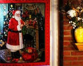 Lighted Christmas Tree and Santa Wall Hanging