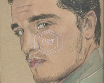 Josh Hutcherson Drawing Peeta