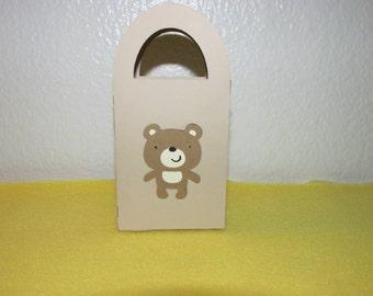 12 Mini teddy bear gift box/bag,  favor bags, mini favor bags