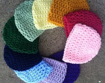EVERY size crochet beanie pattern