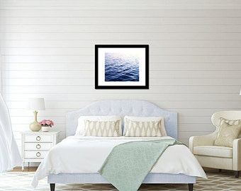 Large Wall Art, Sunset on Blue Waters Dreamy Lake Print, At The Lake, Summer Days, Tranquil Waters, Relaxing Nautical Print