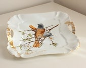 Haviland & Co Songbird Tray in Limoges Porcelain, Handpainted