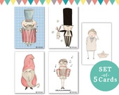 set of 5 cards - Boys