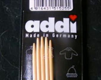 "Addi Natura Bamboo double point needles, 2.5 mm, set of 5, 6"""