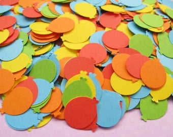 500 Mini Balloons or Hearts Die Cut Confetti - Baby Shower, Birthday Party, Christening