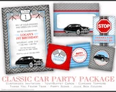Classic Car Printable Birthday Party Package