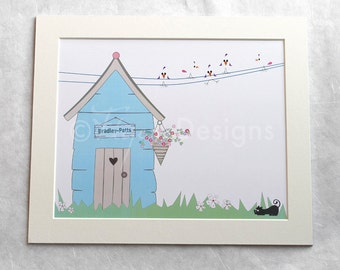 Fingerprint Artwork - Garden Shed