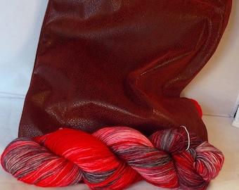 Tall Red Ninja with Max Sport 80/20 SW Merino/nylon Gift Pack