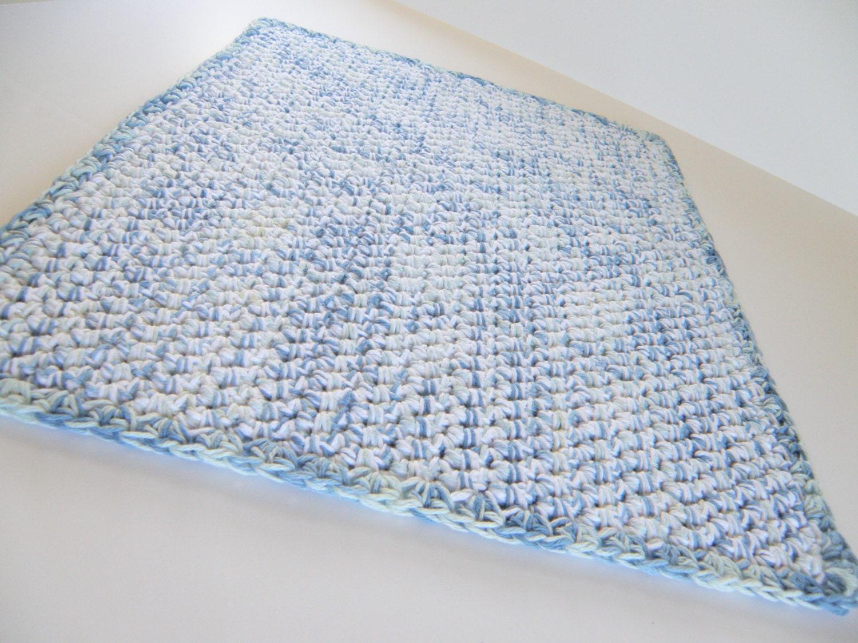 thick bath mat in cotton handmade crocheted bath rug